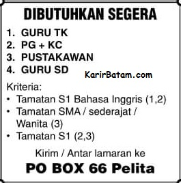 Lowongan Kerja PO BOX 66 Pelita