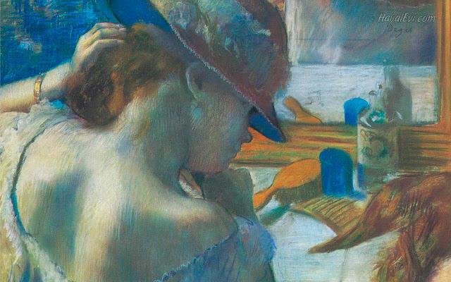 Эдгар Дега - Перед зеркалом (1885-1886)