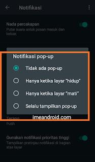 Mengatasi notifikasi pop up tidak muncul