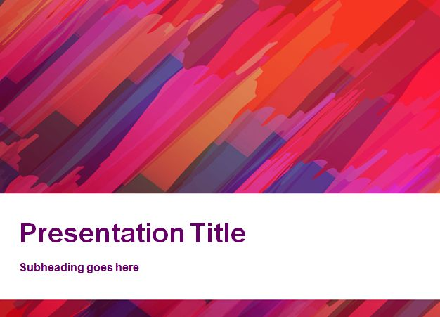 Red Canvas PowerPoint Template