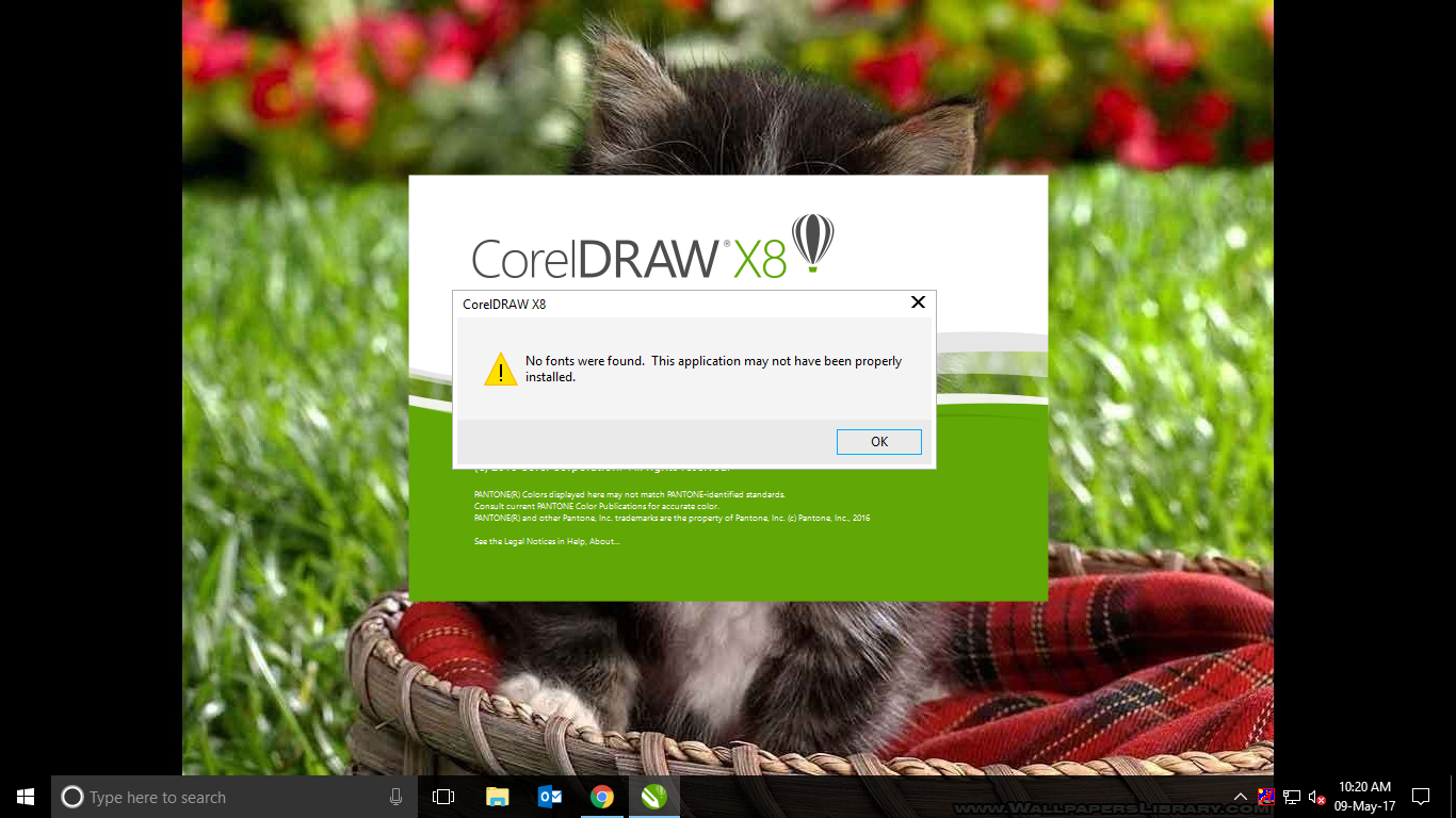 coreldraw x8 not responding windows 10