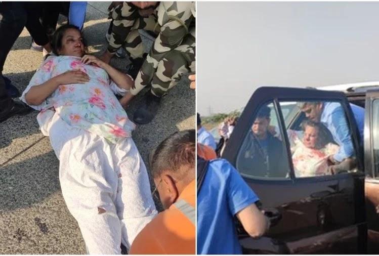 shabana azmi injured in a car accident
