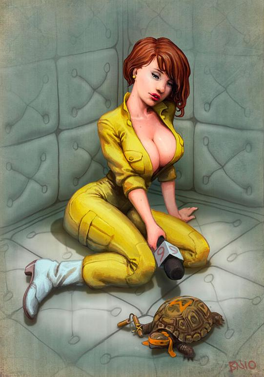 8-Bit City: Sexy April O'Neil