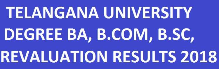 Telangana University Degree RV/RC Results