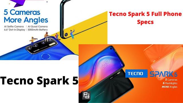 Tecno Spark 5 Full Phone Specs