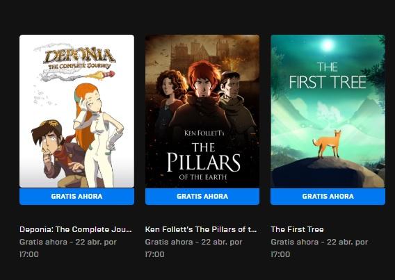 Aventuras gráficas gratis en Epic Games Store