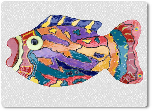 camouflage pattern fish wall decor
