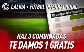 sportium Fútbol: Haz 3 Combinadas y recibe 1 Gratis hasta 27-10-2019