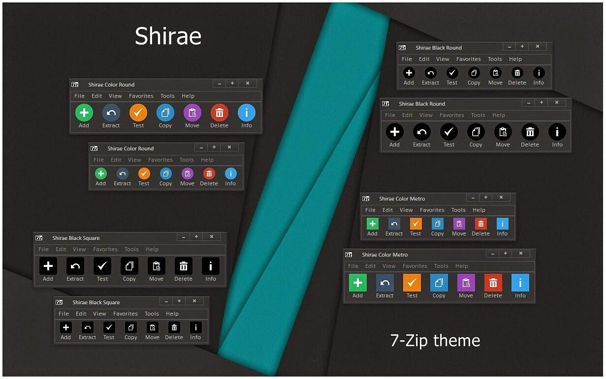 Shirae 7 Zip Theme Cleodesktop I Customized Desktop