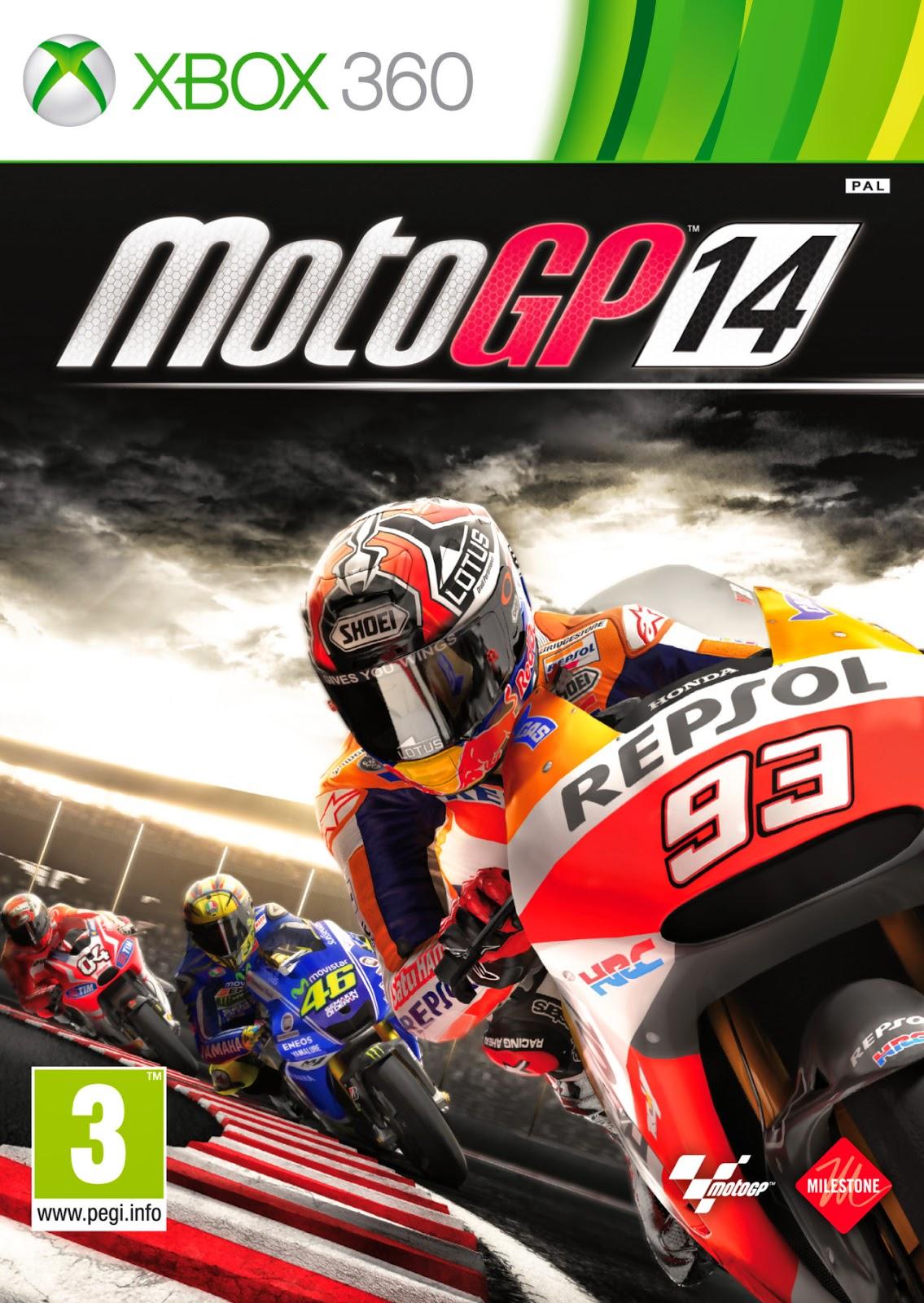 MotoGP 14 XBOX 360 Cover Caratula