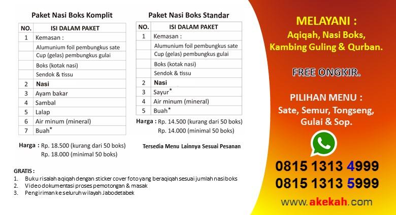 Harga Paket Akikah & Catering Untuk Perempuan Kabupaten Bogor