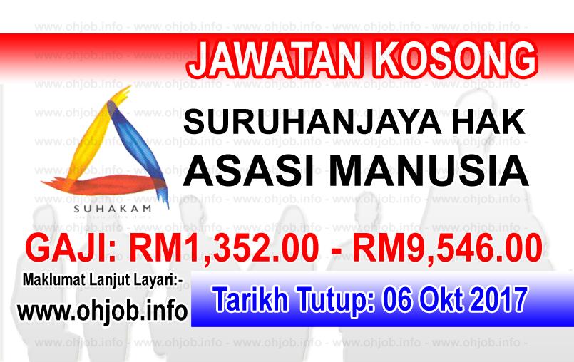 Jawatan Kerja Kosong SUHAKAM - Suruhanjaya Hak Asasi Manusia logo www.ohjob.info oktober 2017