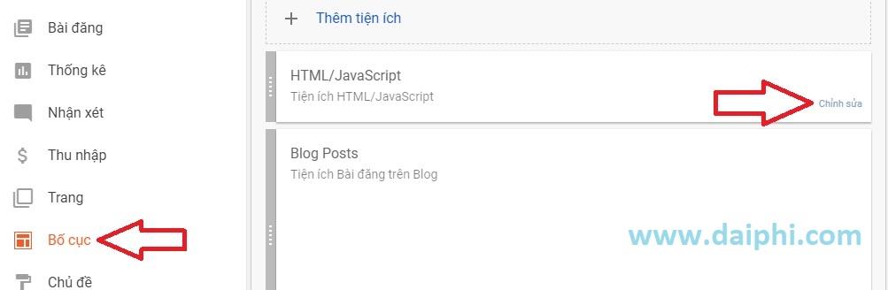 Cách xác định WidgetID của 1 Widget tiện ích trong Blogspot đơn giản và nhanh nhất