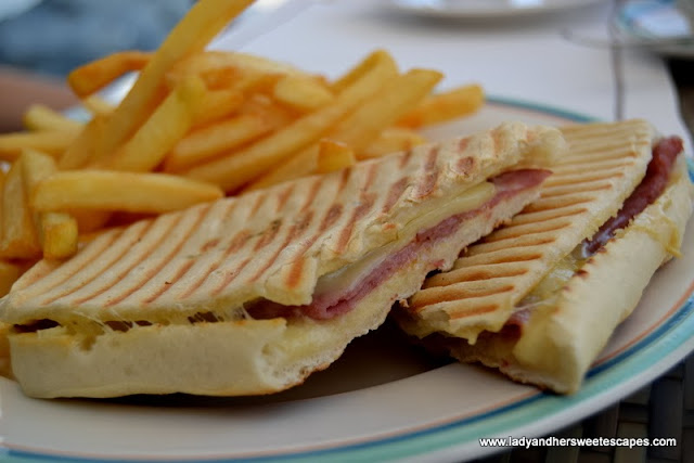 Sharkeys' turkey ham panini