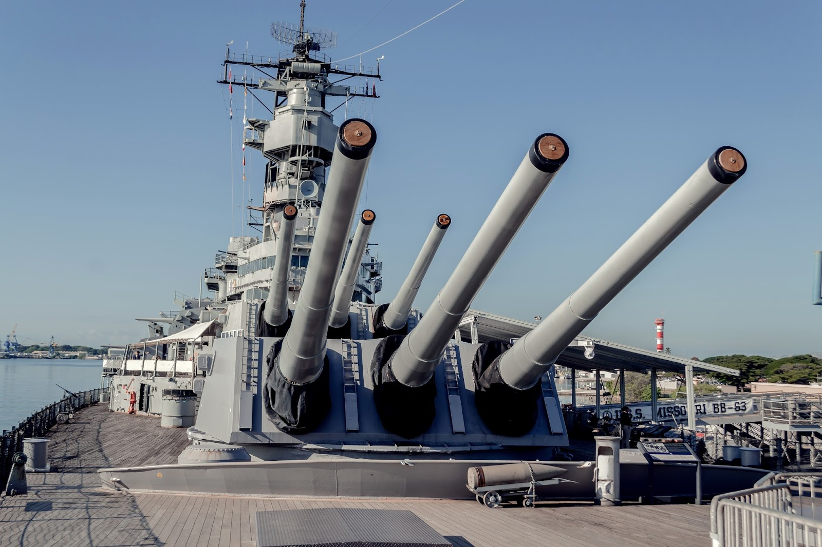 Battleship Missouri in Pearl Harbour, Hawaii
