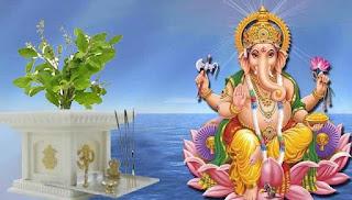 गणेश जी और तुलसी की कथा। Story Of Ganesh and Tulsi in hindi.