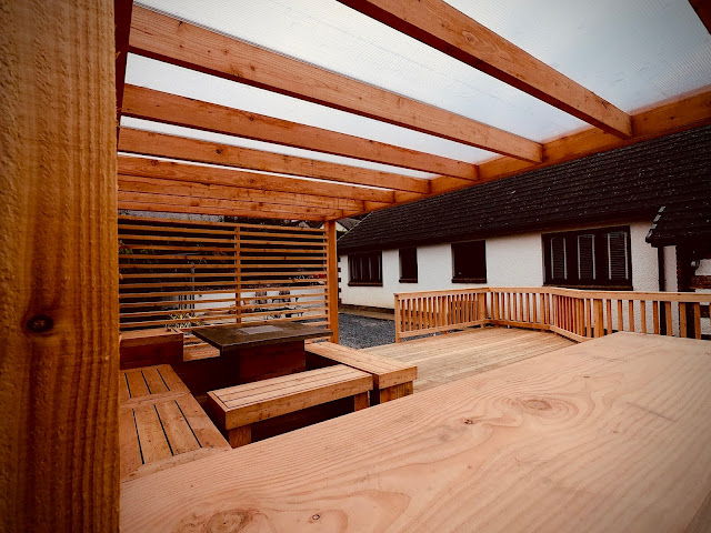 roofed pergola cedar