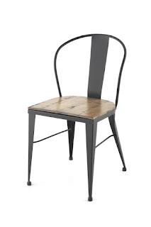silla estilo industrial rustica para hosteleria