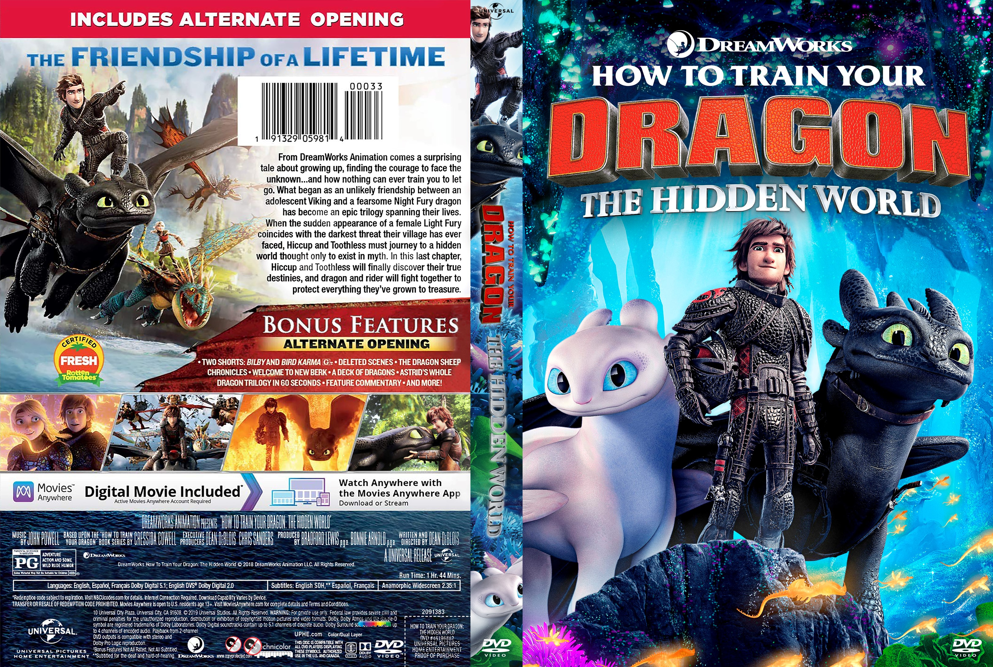 How to Train Your Dragon: The Hidden World DVD Cover ...