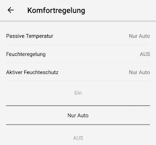 Screenshot: aktiver Feuchteschutz