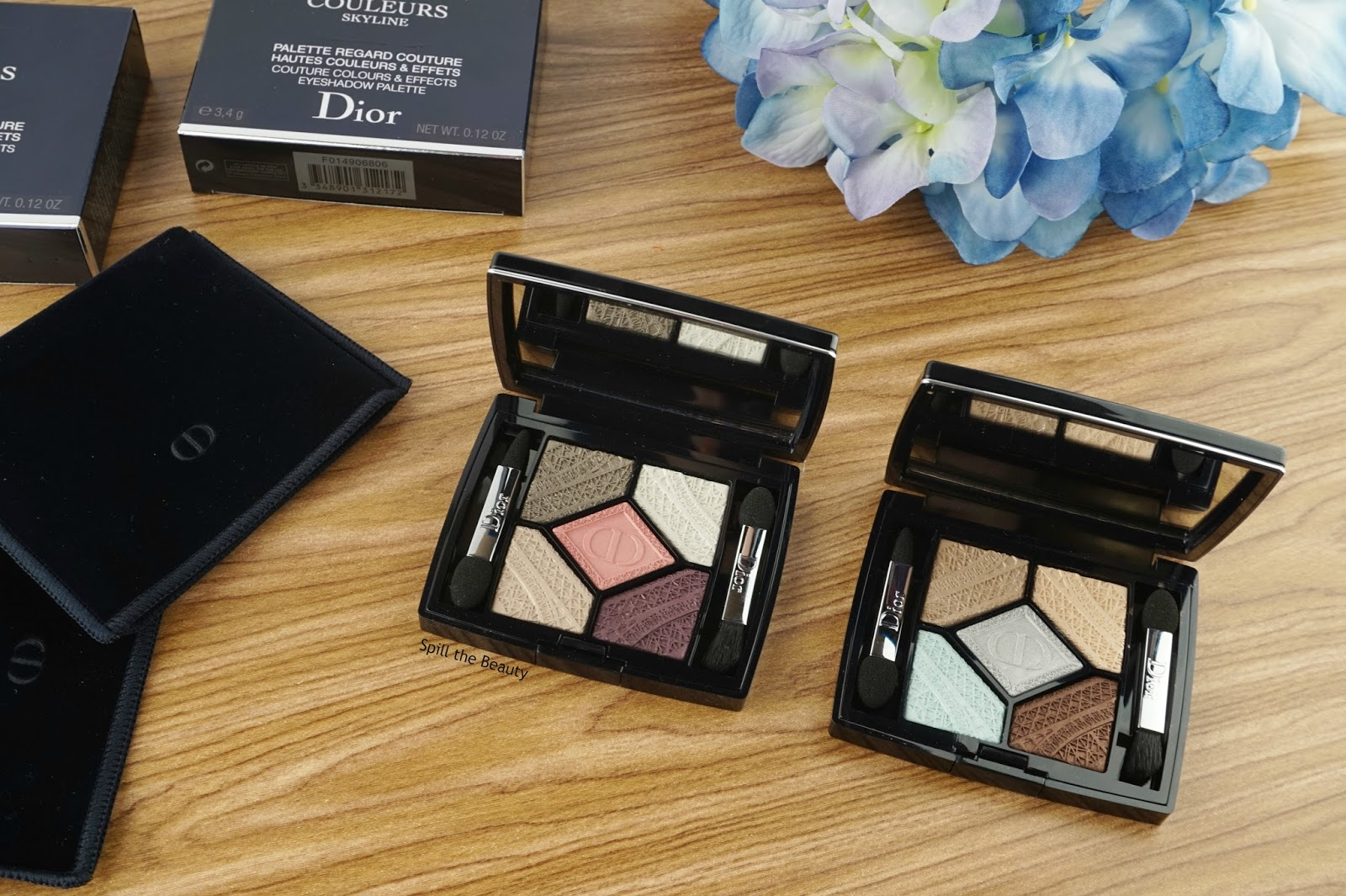 dior 5 couleurs skyline eyeshadow palette capital of light parisian sky review swatches