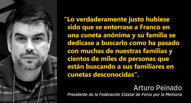 """Los colectivos memorialistas celebran la exhumación del dictador Franco como una """"victoria parcial"""""""