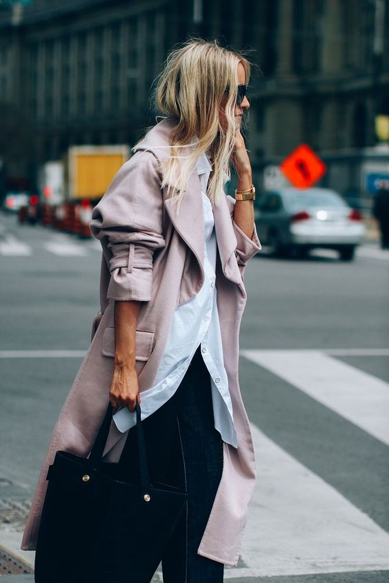Charlotte Fashion Guitar Pink Trench Coat