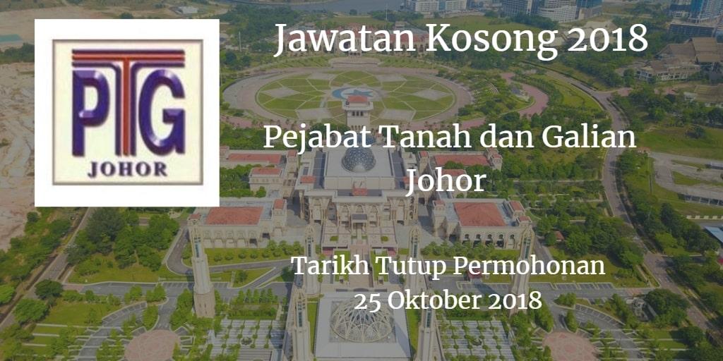Jawatan Kosong Pejabat Tanah dan Galian Johor 25 Oktober 2018
