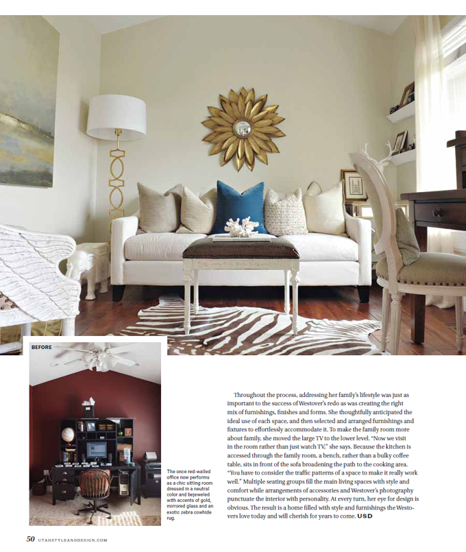 Home Ward Design Utah: Rebekah Westover Photography: Utah Style And Design Feature