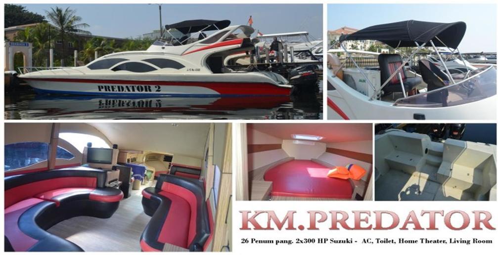 harga sewa kapal speedboat KM.Predator