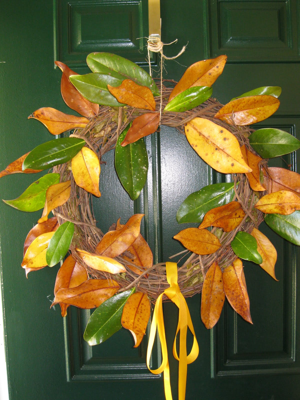 Magnolia Leaf Wreath: For Better Or For Curious: Magnolia Leaf Wreath