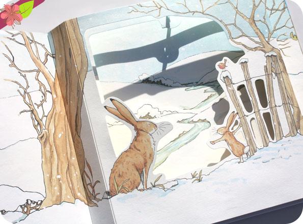 Devine combien je t'aime en hiver - Le pop-up de Sam McBratney et Anita Jeram - l'école des loisirs