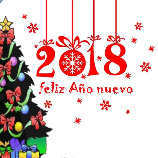 Feliz año 2018 ! Para el año nuevo te deseo 12 meses de sorpresas 52 semanas de amor 365 días de la salud 8760 horas de euforia 52600 minutos riqueza 3153600 segundos de alegría