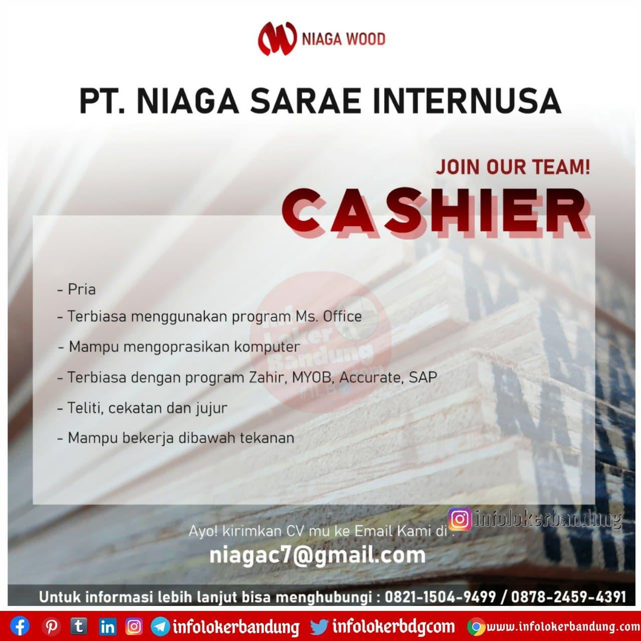 Lowongan Kerja PT. Niaga Sarae Internusa ( Niaga Wood ) Bandung Januari 2021