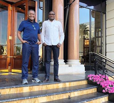 THE YCEO: Nigerian billionaires Aliko Dangote and Femi Otedola promise Super Eagles $75,000 per goal during Semi-Final match against Algeria