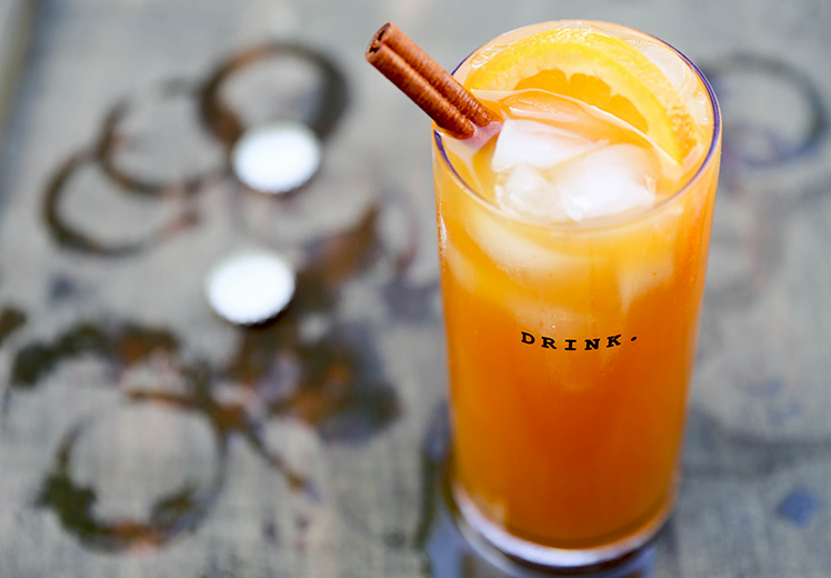 Pumpkin Beertail with Tequila and Spiced Rum by Floating Kitchen