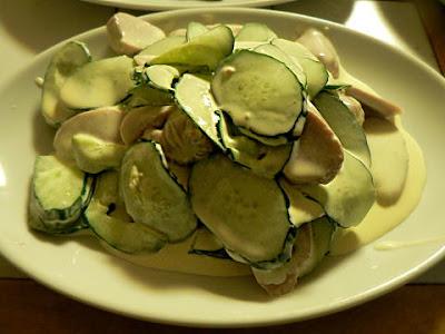 魚肉ソーセージサラダ完成