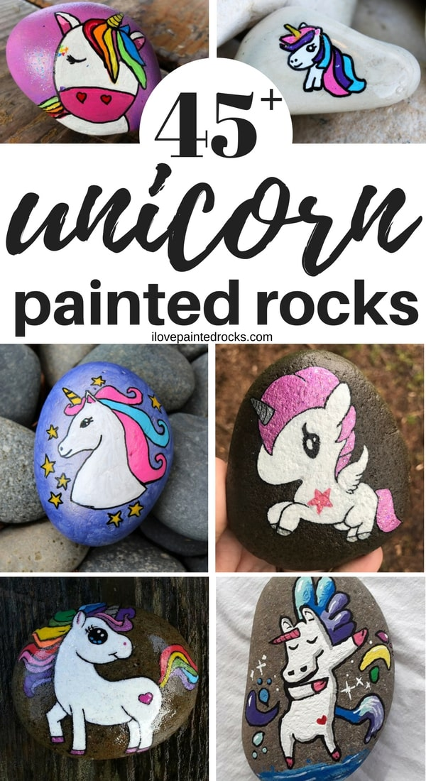 More than 45 beautiful rock painting ideas featuring unicorns! These aweseom unicorn craft ideas will inspire you to break out your paints and become part of the art rocks and kindness rocks movement...because the best painted rocks have unicorns!  #ilovepaintedrocks #rockpainting #paintedrocks #stonepainting #paintedstones #rockpaintingideas