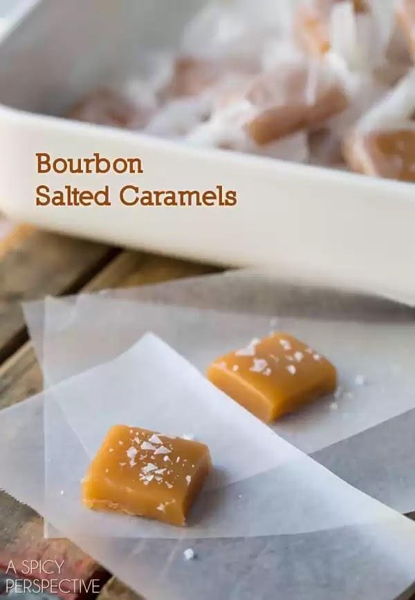 Bourbon Salted Caramel Candy