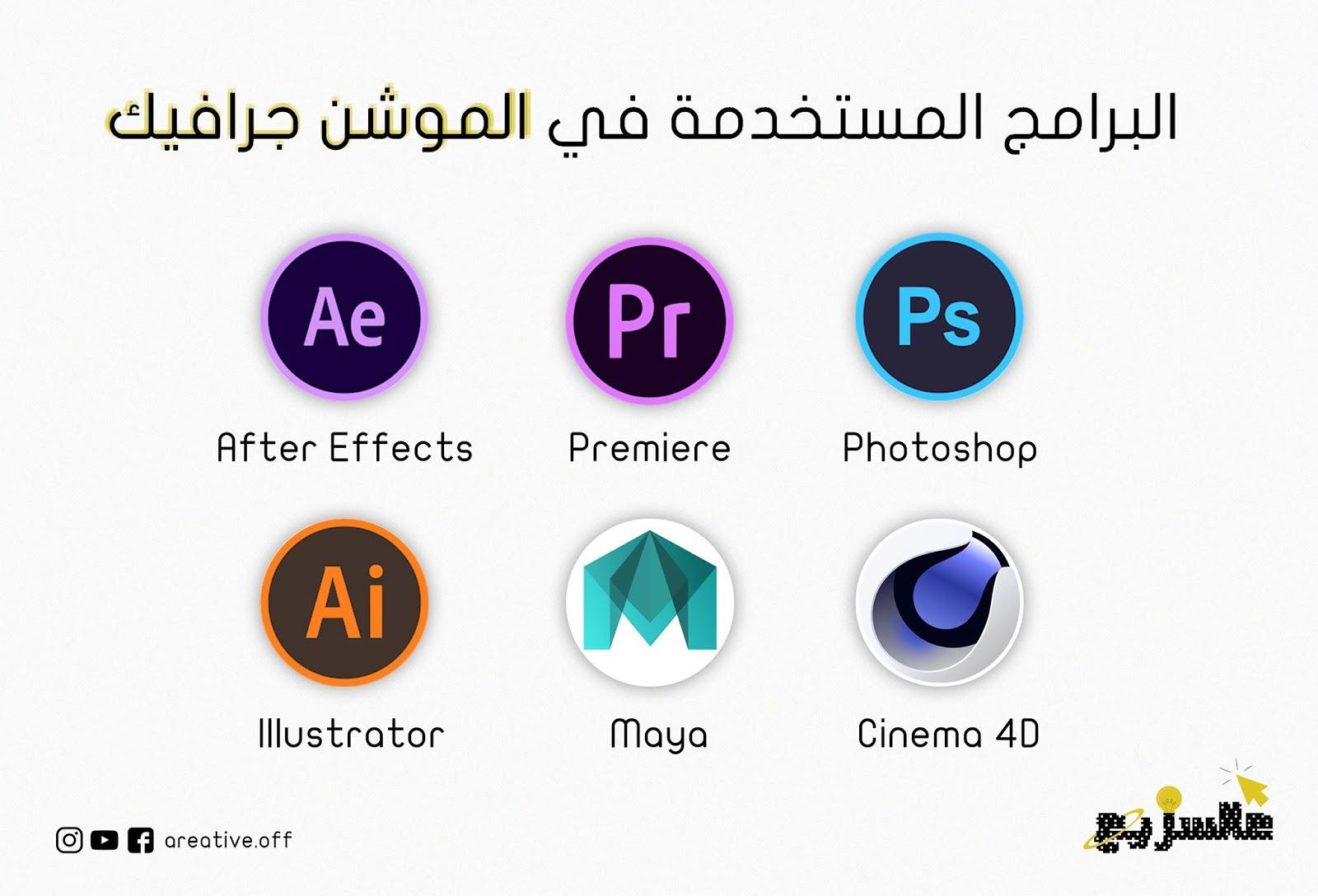 البرامج المستخدمة في تصميم الموشن جرافيك