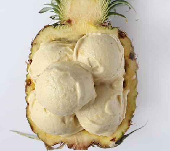 Healthy Pineapple Banana Icecream – Veganes Bananen Ananas Eis #desserts #summer