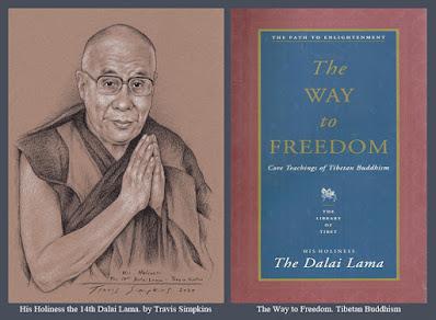 His Holiness the Dalai Lama. Tenzin Gyatso. Tibetan Buddhism. The Way to Freedom. by Travis Simpkins
