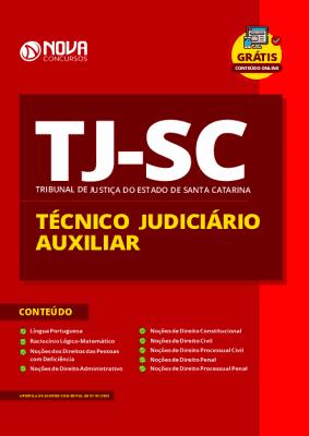 Apostila Concurso TJ SC 2020 Técnico Judiciário Auxiliar Grátis Cursos Online