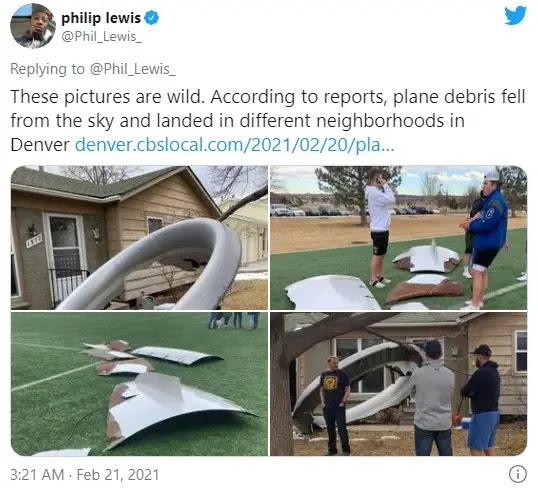 United Airlines flight safely lands after engine failure