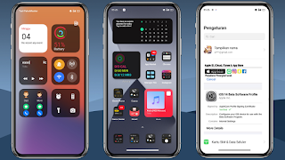 Tema Special iOS 14 Dark 5G+ for OPPO & Realme