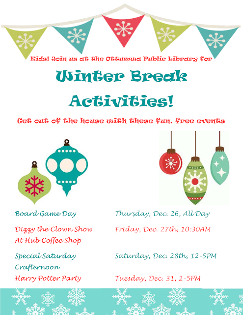 ottumwa public library winter break activities. Black Bedroom Furniture Sets. Home Design Ideas