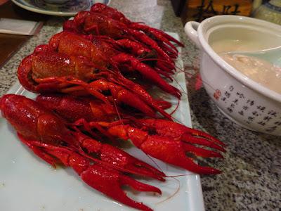Nanjing Impressions (南京大牌檔), chilled drunken virgin crayfish