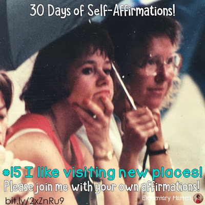 "30 Days of Self-Affirmations: Day 15: I like visiting new places! For 30 days, I will be celebrating my own ""new year"" with self-affirmations. If you are interested in joining me, feel free to write your own affirmations here, or respond on my social media here: http://bit.ly/2JuKRWa"