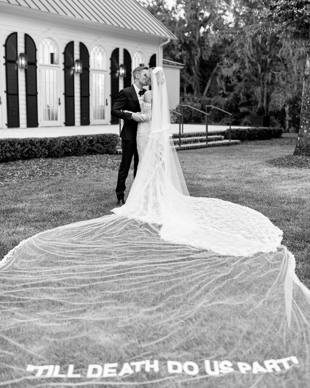 Hailey Bieber Just Debuted Her Stunning Off-White Wedding Dress