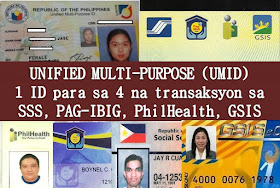 WHY DO I NEED TO GET UMID?  ⦁ UMID stands for Unified Multi-Purpose ID where it considered one of the valid IDs in the Philippines.   ⦁ This is a 4 in 1 ID that you could use it to transact in agencies like SSS, GSIS, PhilHealth and Pag-Ibig; and  ⦁ Easier for you to apply loan, cash advance and check your status information in just one tap of your UMID